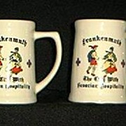 Pair Of Ceramic Beer Steins