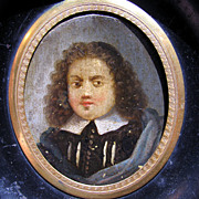 SALE DIVINE French Oil on Copper Portrait Miniature of a Puritan or Huguenot Gentleman, c.1650!