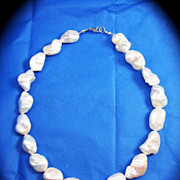 "SOLD ULTIMATE 16 1/2"" Huge South Sea Keshi Pearl Necklace!"