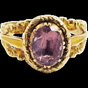 SALE PRETTY IN PINK Pristine Georgian Pink Topaz/15k Ring, c.1825!