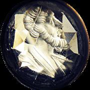 SALE STUNNING 22.98 Ct. Rock Crystal Georgian Intaglio of a Prophet in 9k Pendant ...