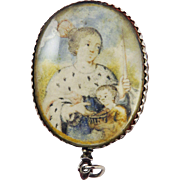 SALE MUSEUM-WORTHY French Renaissance Rock Crystal/Vellum/Silver Double-Sided Reliquary Pendan