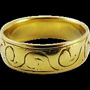 SALE RAREST Unisex Stuart Scottish 22k Wedding Ring, John Lawe of Glasgow, 5.96 Grams, c.1665!