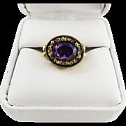 SALE GLORIOUS Regency Unheated 2.61 Ct. Pink Sapphire/Micromosaic/12k Ring, c.1810!