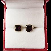 """SALE SWEETEST Regency-Era Rhodolite Garnet/15k """"Snap"""" Earrings, c.1800!"""
