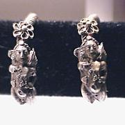 SALE ANCIENT ROMAN Silver Eros Earrings, ca. 100 AD!