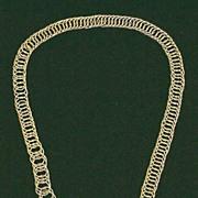 EXQUISITE Georgian 15k Canetille/Link Necklace, c.1820!
