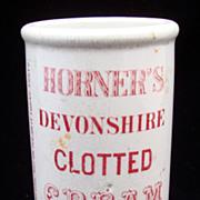 SALE Red Antique Victorian Clotted Cream Pot ~ 1880
