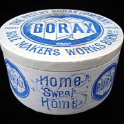 SALE Rare Blue Victorian English BORAX Pot 1870