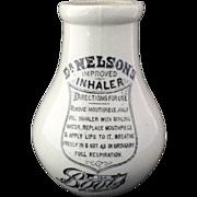 SALE Dr. Nelson's Improved Inhaler ~ 1900