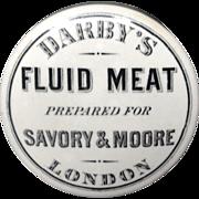 SALE Rare Victorian Potted FLUID MEAT Pot Lid 1880