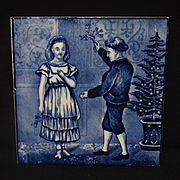 SALE Superb Tile ~ Wedgwood Months ~ DECEMBER ~ 1879