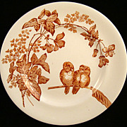 SALE Superb Aesthetic Transfer Plate ~ Lovebirds 1885