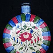 SALE Early Stoneware Staffordshire Pilgrim Flask 1790-1820