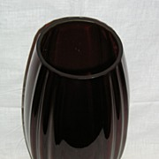 New Martinsville Oscar Pattern No. 36 Ruby Red Vase