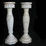 Beautiful pair of marble pedestals