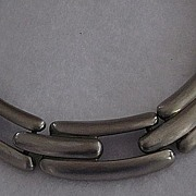 Givenchy Antique Silver Finish Chunky Snake Chain/ G Link/ Choker