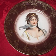 Royal Vienna Portrait Plate of Queen Louise of Prussia