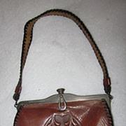 Jemco Arts & Crafts Tooled Leather Purse