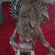 Vintage Hopi Great Horned Owl (Mongwu) Kachina Doll