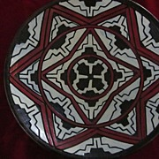 Eye Dazzler Red, Black and White Geometric Bowl