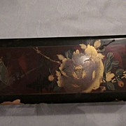 Oriental Handpainted Lacquer Tea Box w/ 4 Smaller Enclosed Boxes