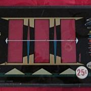 Vintage Bally Slot Machine Glass Panel