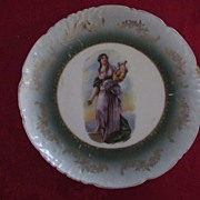 Vienna Art Plate, Sappho with Lyre