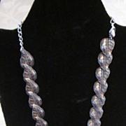 "Cini Sterling Silver Leaf Shaped Necklace, 14 1/2"" + 6"" Extender"