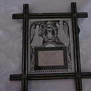 Cross Corner Frame with Remembrance of Ann Simester, 1875
