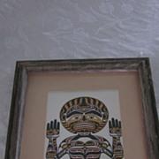 "Richard Hunt,  First Nations Artist, ""Kwakiutl Moon"" Print"