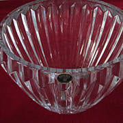 "Large Bohemia Glass Crystal Bowl/Vase, 7 1/4"" X 9 1/2"""