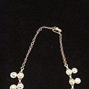 """Emmons Signed Silver Plated Sun Motif Necklace, 17"""""""