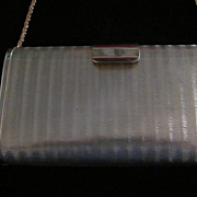 Vintage Saks Fifth Avenue Gold Plated Textured Purse, Italy