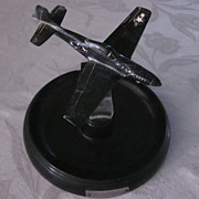 Daka-Ware Bakelite/Clear Plastic P-51 Mustang Ashtray
