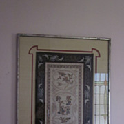 Framed and Matted Chinese Tapestry