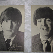 Lennon, McCartney 1964 Beatles (USA) Ltd. Post Cards