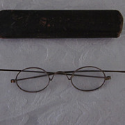 Civil War Era Brass Framed Spectacles With Oval Lenses