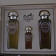 Hermes Vintage Caleche Presentation Cadeau 3 Bottles Original Box