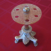 Hollywood Regency Cast Iron and Gold Glitter Lucite Toothbrush Rack