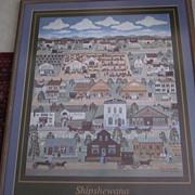 Shipshewana, Folk Art Print by Carol Hamilton Offet