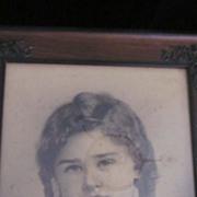 Victorian Framed Sepia Tone Boy's Portrait
