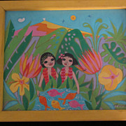 """Les Keikis"", Monique Plassmann, ""Moune"", Hawaiian Couple"