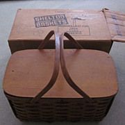 1940's Shelton Splint Basket/Picnic Kit, Original Box