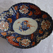 Japanese Imari Hand Painted Four Lobed Dish