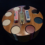 Clay Poker Chips, Hardwood Caddy, Vintage Aviator Cards