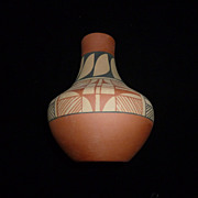 Pueblo Pottery Vase, Jemez, Signed D. Tosa