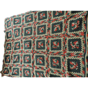 1970's Hand Crocheted Afghan, Autumn Colors