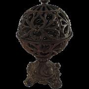 Cast Iron Globe String Holder, On Stand