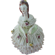 Godey's Fashions For December 1863, Dresden, Porcelain Lace Figurine